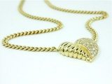 Herz - Collier, 750/- Gelbgold, 1,15ct VSi  Brillanten